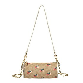 Women's Bags PU Leather Crossbody Bag for Daily White / Khaki / Brown