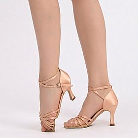Women's Latin Shoes Heel Cuban Heel PU Leopard / Black / Red