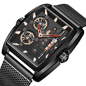 Men's Dress Watch Quartz Formal Style Stylish Casual Water Resistant / Waterproof Analog Black / Silver Black Blue / One Year / Genuine Leather / Japanese / Th