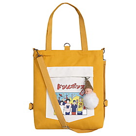 Women's Zipper Polyester Tote 2020 Solid Color Yellow