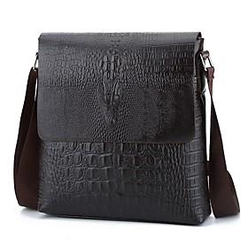 Men's Bags Crossbody Bag Zipper for Daily Black / Brown