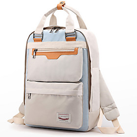 Large Capacity Commuter Backpack Women's Nylon Zipper Daily White / Blue / Red / Yellow / Blushing Pink / Fall  Winter