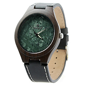 Men's Sport Watch Quartz Modern Style Stylish Casual Large Dial Analog Black / Leather