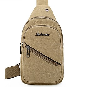Men's Bags Canvas Sling Shoulder Bag for Daily / Outdoor Black / Khaki / Green / Coffee
