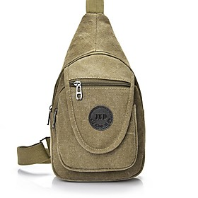 Men's Bags Canvas Sling Shoulder Bag for Daily / Outdoor Black / Army Green / Khaki / Coffee