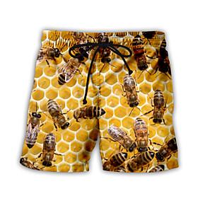Men's Basic Streetwear Daily Holiday Loose Sweatpants Shorts Pants Pattern 3D Print Drawstring Breathable Summer Rainbow US32 / UK32 / EU40 US34 / UK34 / EU42