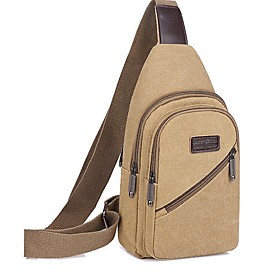 Men's Bags Canvas Sling Shoulder Bag for Daily / Outdoor Black / Blue / Brown / Gray