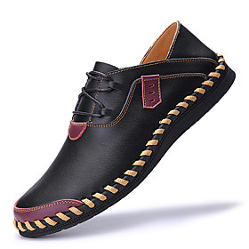 Men's Oxfords Business / Casual / British Daily Outdoor Nappa Leather Breathable Handmade Non-slipping Black / Burgundy / Brown Spring / Fall