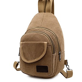 Men's Bags Canvas Sling Shoulder Bag for Daily / Outdoor Black / Blue / Khaki / Green