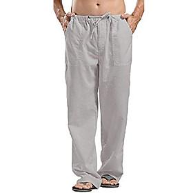 butamp; #39;s elastic waist pants casual smart summer autumn beach pants
