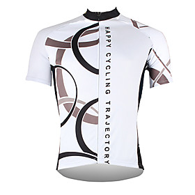 21Grams Men's Short Sleeve Cycling Jersey Polyester White Yellow Red Bike Jersey Top Mountain Bike MTB Road Bike Cycling Breathable Quick D