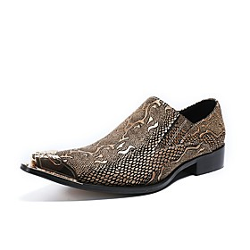 Men's Loafers  Slip-Ons Dress Shoes Daily Party  Evening Cowhide Handmade White Summer
