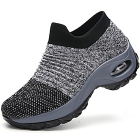 Women's Trainers / Athletic Shoes Summer Flat Heel Round Toe Daily Solid Colored Tissage Volant White / Black / Yellow