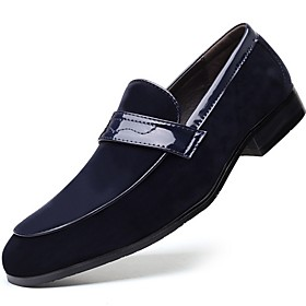 Men's Loafers  Slip-Ons Daily PU Black / Blue / Brown Summer