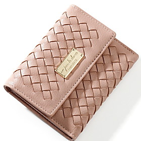 Women's Bags PU Leather Wallet for Daily Black / Red / Blushing Pink / Green