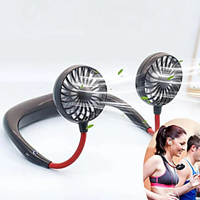 USB Portable Fan Mini Neck Fan Rechargeable Small Portable Sports Fan Light USB Desk Hand Air Conditioner Cooler