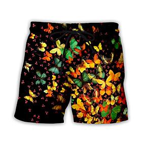 Men's Basic Streetwear Daily Holiday Loose Sweatpants Shorts Pants Pattern 3D Print Drawstring Breathable Summer US32 / UK32 / EU40 US34 / UK34 / EU42 US36 / U