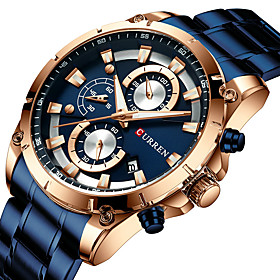 Men's Military Watch Quartz Modern Style Stylish Outdoor Water Resistant / Waterproof Analog Black Blue Gold / One Year / Stainless Steel / Japanese / Chronogr