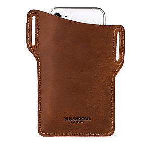 Men's Bags Nappa Leather / Cowhide Mobile Phone Bag for Daily Bronze / Khaki