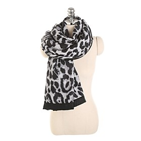 Women's Active Rectangle Scarf - Print / Leopard Washable