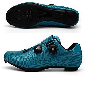 BOODUN Adults' Bike Shoes Road Bike Shoes Nylon Breathable Anti-Slip Mountain Bike MTB Road Cycling Cycling / Bike Black Blue Men's Women's Cycling Shoes