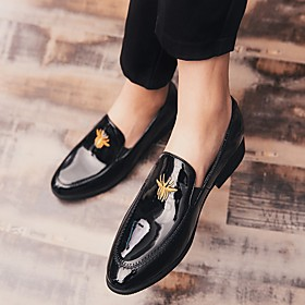 Men's Loafers  Slip-Ons Casual Daily PU Non-slipping Black / Blue Fall