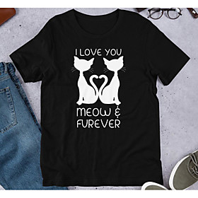 Women's T-shirt Heart Graphic Prints Letter Print Round Neck Tops Slim 100% Cotton Basic Basic Top Black Red Wine