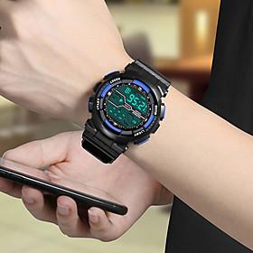Men's Digital Watch Digital Sporty Classic Chronograph Digital White Black Blue / Rubber / Luminous / Noctilucent / Large Dial