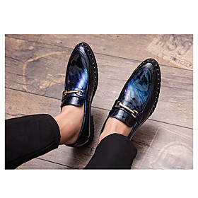 Men's Loafers  Slip-Ons Daily PVC Red / Blue / Silver Summer