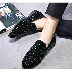 Men's Loafers  Slip-Ons Casual Daily PU Breathable Black Fall / Winter / Rivet