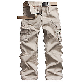 Men's Basic Daily Tactical Cargo Pants Solid Colored Classic Outdoor White Black Army Green 30 31 32