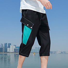 Men's Sporty Streetwear Going out Weekend Slim Sweatpants Shorts Pants Solid Colored Breathable Summer White Black Gray US34 / UK34 / EU42 US36 / UK36 / EU44 U