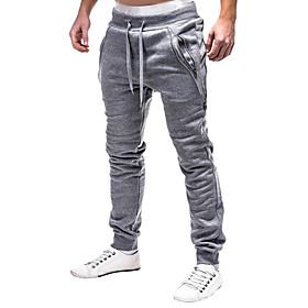 Men's Joggers Jogger Pants Track Pants Bottoms Fitness Gym Workout Marathon Running Cycling Breathable Quick Dry Soft Sport Dark Grey Black Light Grey Color Bl