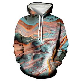 Men's Hoodie Graphic Hooded Casual Hoodies Sweatshirts  Rainbow