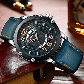 Men's Dress Watch Quartz Modern Style Stylish Casual Water Resistant / Waterproof Analog Black Red Coffee / One Year / Leather / Japanese / Luminous / Shock Re