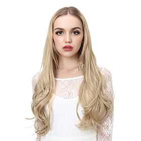 Human Hair Lace Wig Curly Synthetic Hair Long Hair Extension Clip In Flip In Blue Auburn 1 Piece Party Best Quality Hot Sale Women's Daily Wear Date Birthday P