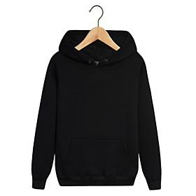 Men's Hoodie Sweatshirt Hoodies Pullover Hoody Black White Blue Pink Pure Color Pocket Drawstring Hoodie Fleece Cotton Solid Color Cool Sport Athleisure Top Lo