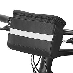 ROSWHEEL 4.5 L Bike Handlebar Bag Moistureproof Wearable Shockproof Bike Bag PVC(PolyVinyl Chloride) 600D Polyester Bicycle Bag Cycle Bag S