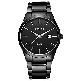 men's watches classic black/silver steel band quartz analog wrist watch with date for man litbwat