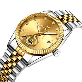 Men's Dress Watch Quartz Modern Style Stylish Casual Calendar / date / day Analog Black / Silver BlackGloden GoldenSilver / One Year / Titanium Alloy / Noctilu