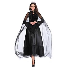 Women's A-Line Dress Maxi long Dress - Long Sleeve Solid Color Lace Mesh Fall Vintage Slim 2020 Black M L XL