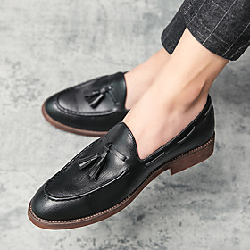 Men's Loafers  Slip-Ons Business / Casual Daily PU Wear Proof Black / Brown Fall / Winter