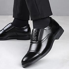 Men's Loafers  Slip-Ons Business / Vintage / British Office  Career Microfiber / PU Breathable Wear Proof Black Summer / Fall