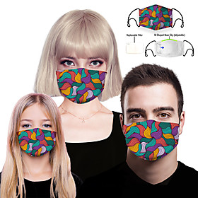 Face cover Filter Element Women's Spandex Polyester One-Size Rainbow 1pc / pack Adults Layered Breathable Daily Home Streetwear All Seasons