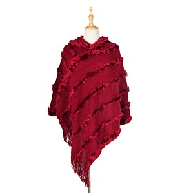 Women's Tassel / Active Rectangle Scarf - Solid Colored Washable
