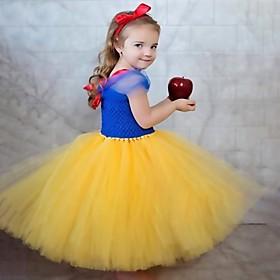 Kids Girls' Basic Color Block Halloween Mesh Patchwork Short Sleeve Above Knee Dress Blue
