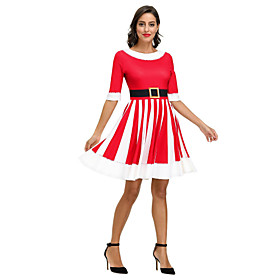 Women's A-Line Dress Short Mini Dress - 3/4 Length Sleeve Print Print Fall Vintage 2020 Red Wine S M L XL