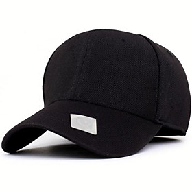 Men's Baseball Cap Polyester Basic - Solid Colored Black Blue Gray
