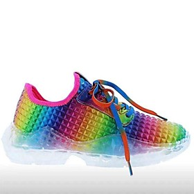 Women's Trainers / Athletic Shoes Flat Heel Round Toe Sporty Daily Camouflage PU Rainbow