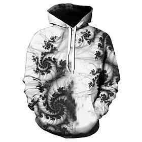 Men's Hoodie Graphic Hooded Casual Hoodies Sweatshirts  White